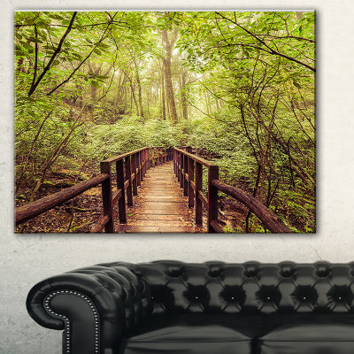 Designart Jungle In Vintage Style Landscape Photography Canvas Print - 3 Panels
