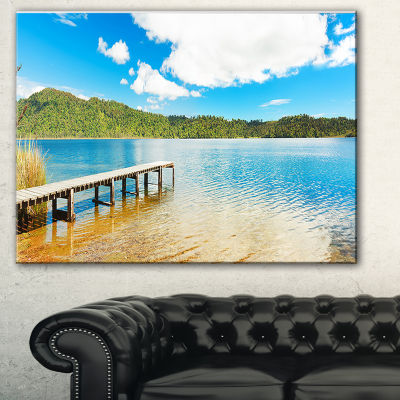 Design Art Lake In New Zealand Panorama LandscapePhotography Canvas Print
