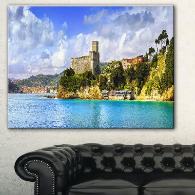 Designart Lerici Village Panorama Seascape CanvasArt Print
