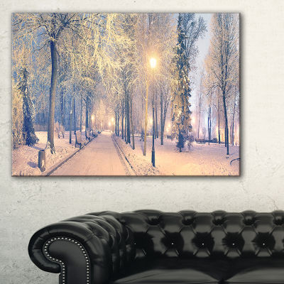 Designart Light Up Mariinsky Garden View LandscapePhotography Canvas Print