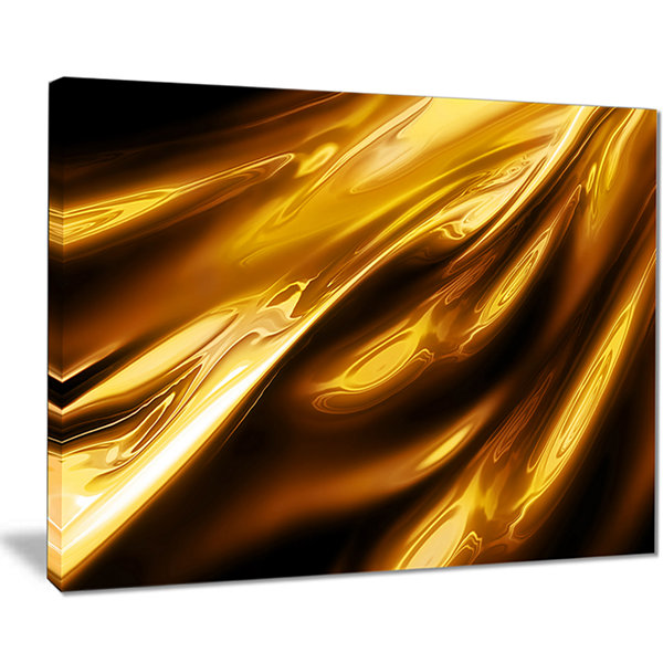 Designart Liquid Gold Texture Pattern Abstract Canvas Art Print