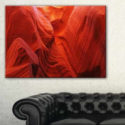 Designart Magic Colors Of Antelope Canyon Landscape Photography Canvas Print