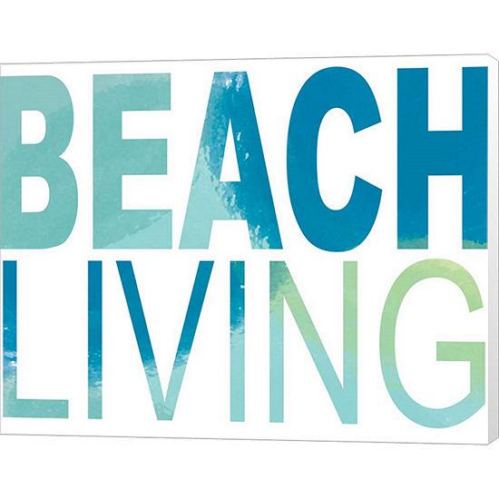 Metaverse Art Beach Living Canvas Wall Art
