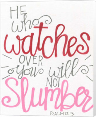 Metaverse Art He Will Not Slumber (PSALM 121:3) Canvas Wall Art