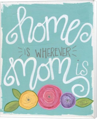 Metaverse Art Home is Wherever Mom Is Canvas Wall Art