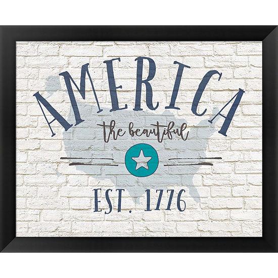 Metaverse Art America Brick Framed Wall Art