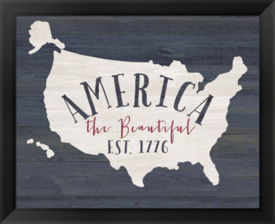 Metaverse Art America the Beautiful Framed Wall Art