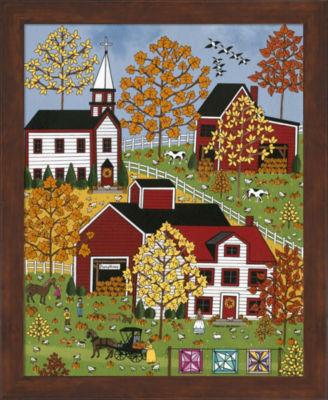 Metaverse Art Autumn Blessings Framed Wall Art