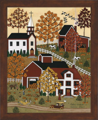 Metaverse Art Autumn Drive Framed Wall Art