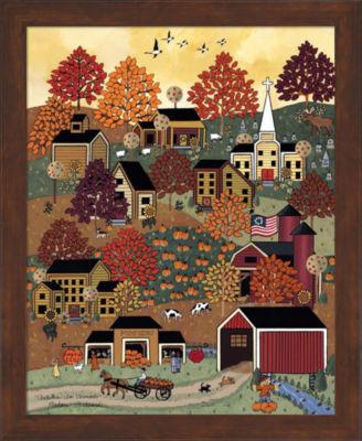 Metaverse Art Autumn In Vermont Framed Wall Art