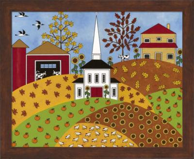 Metaverse Art Autumn Tapestry Framed Wall Art