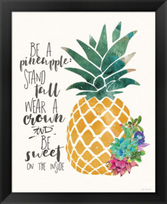 Metaverse Art Be a Pineapple Framed Wall Art