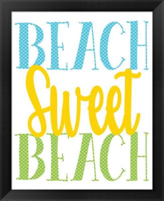 Metaverse Art Beach Sweet Beach Framed Wall Art