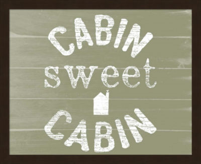 Metaverse Art Cabin Sweet Cabin Framed Wall Art