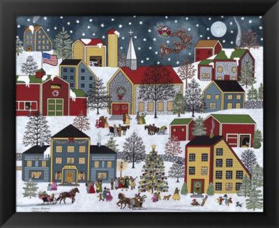 Metaverse Art Christmas Eve Framed Wall Art