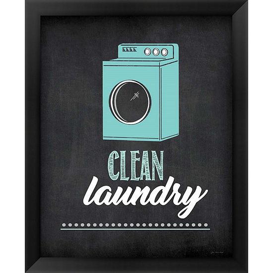 Metaverse Art Clean Laundry Framed Wall Art