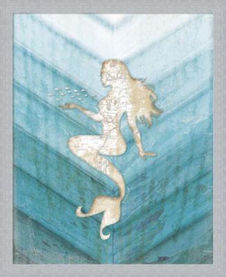 Metaverse Art Coastal Mermaid II Framed Wall Art