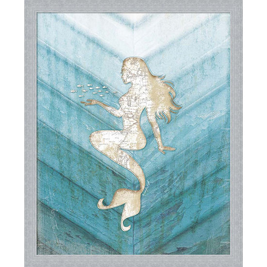 Metaverse Art Coastal Mermaid II Framed Wall Art