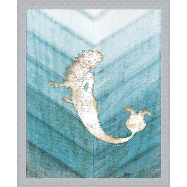Metaverse Art Coastal Mermaid IV Framed Wall Art