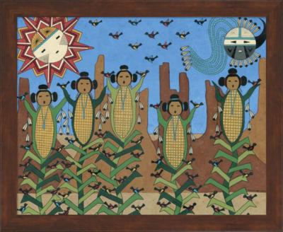 Metaverse Art Corn Maidens Framed Wall Art