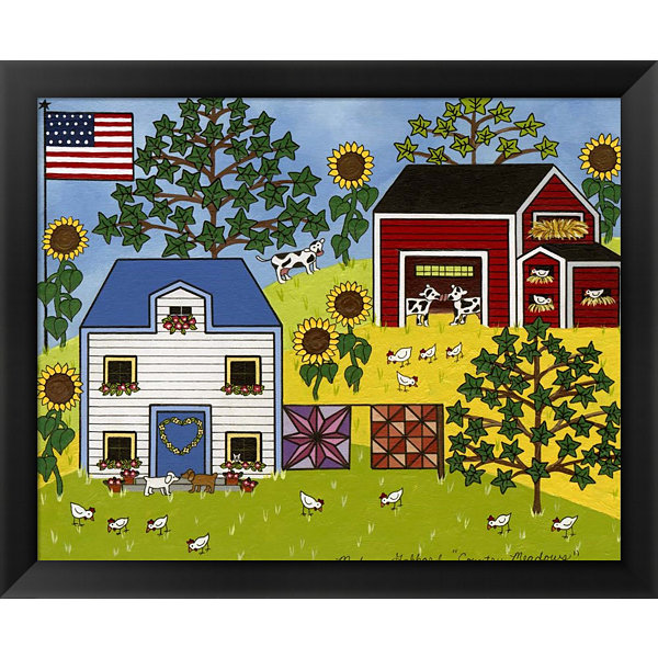 Metaverse Art Country Meadows Framed Wall Art