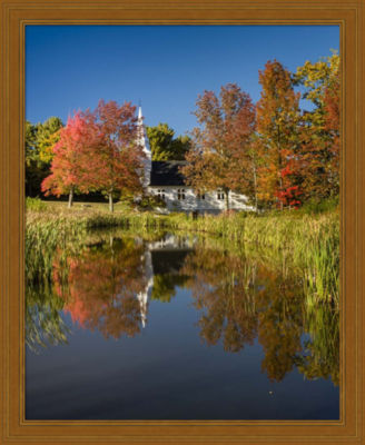 Metaverse Art Divine Reflection Vertical Framed Wall Art