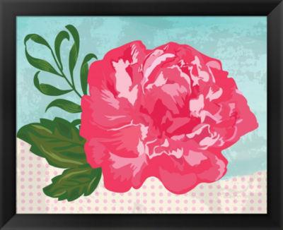 Metaverse Art Floral I Framed Wall Art