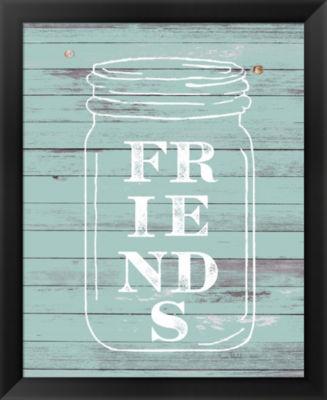 Metaverse Art Friends Mason Jar Framed Wall Art