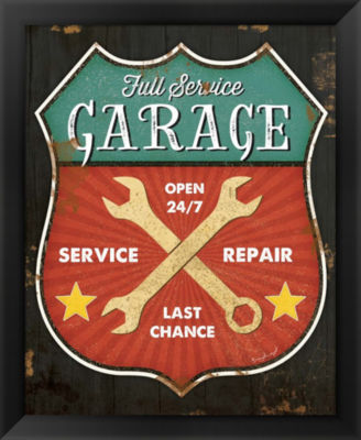 Metaverse Art Full Service Garage Framed Wall Art