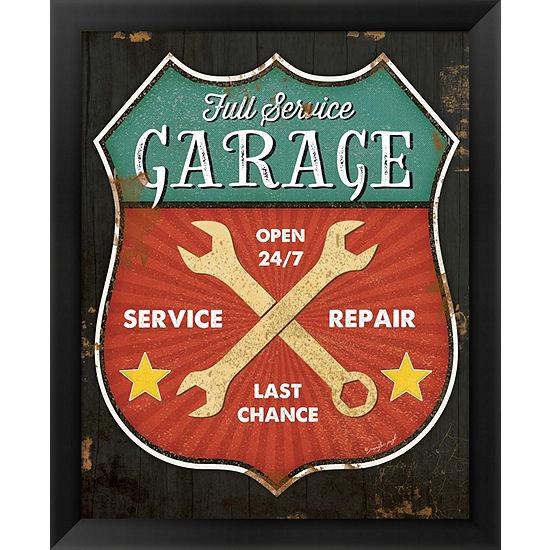 Metaverse Art Full Service Garage Framed Wall Art