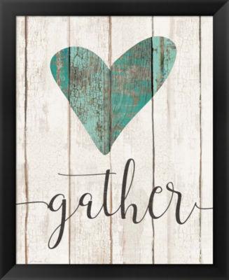 Metaverse Art Gather (Heart) Framed Wall Art