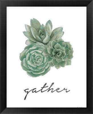 Metaverse Art Gather (Succulents) Framed Wall Art