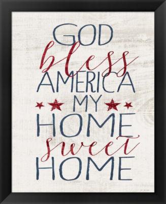 Metaverse Art God Bless America Framed Wall Art