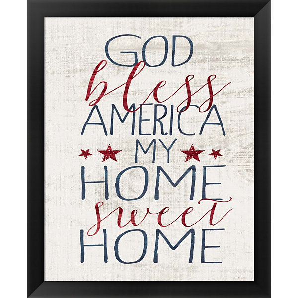 Metaverse Art God Bless America Framed Wall Art