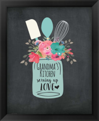 Metaverse Art Grandma's Kitchen Framed Wall Art