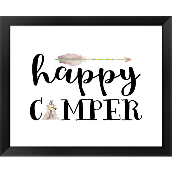 Metaverse Art Happy Camper I Framed Wall Art