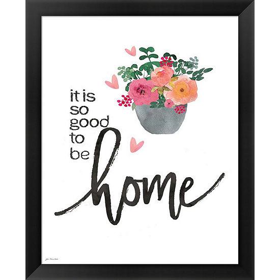Metaverse Art Home (Floral) Framed Wall Art