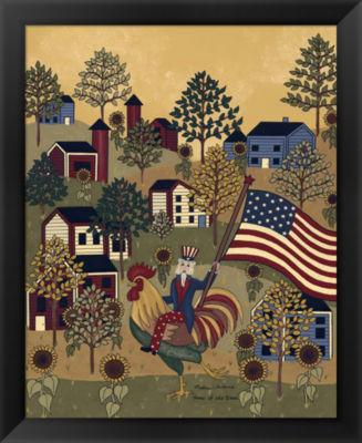 Metaverse Art Home Of The Brave (Folk Americana) Framed Wall Art