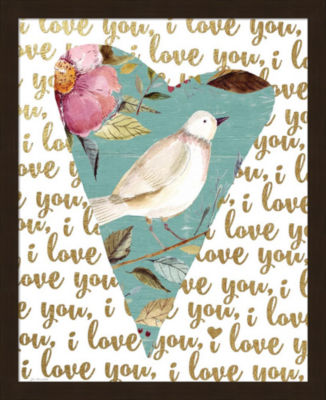 Metaverse Art I Love You (Bird) Framed Wall Art