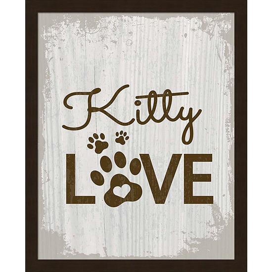 Metaverse Art Kitty Love Framed Wall Art