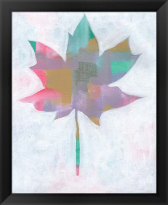 Metaverse Art Leaf Abstract II Framed Wall Art