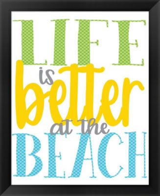 Metaverse Art Life is Better at the Beach Framed Wall Art