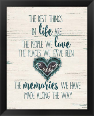 Metaverse Art Life Love Memories Framed Wall Art