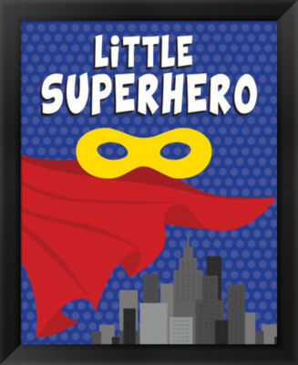 Metaverse Art Little Superhero Framed Wall Art