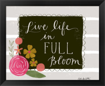 Metaverse Art Live Life in Full Bloom Framed WallArt