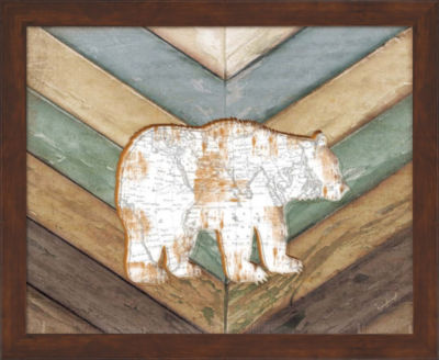 Metaverse Art Lodge Bear Framed Wall Art