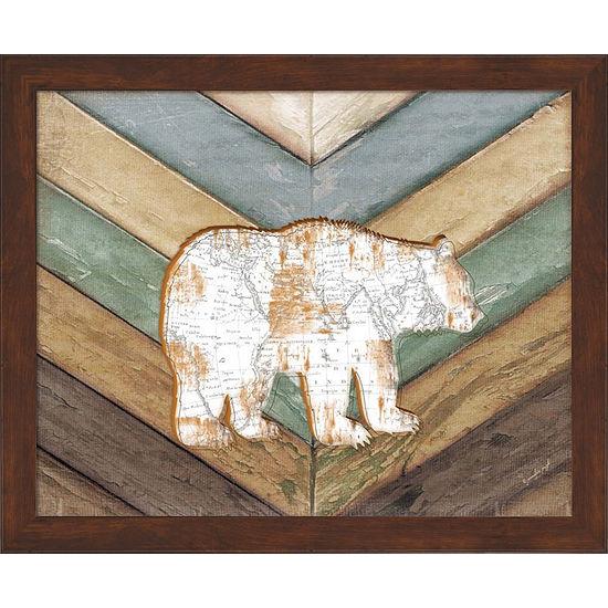 Metaverse Art Lodge Bear Framed Wall Art - JCPenney