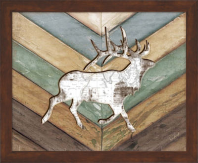 Metaverse Art Lodge Elk Framed Wall Art