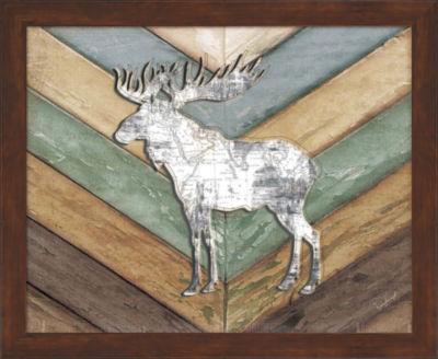 Metaverse Art Lodge Moose Framed Wall Art