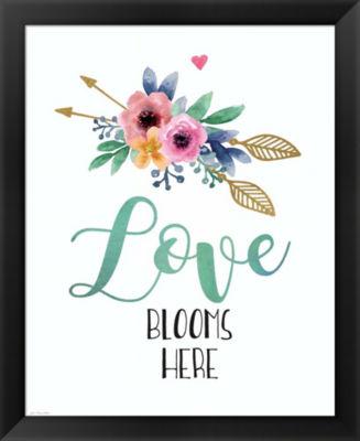 Metaverse Art Love Blooms Here Framed Wall Art